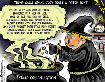 A witch, discovered