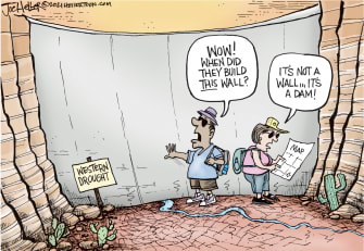 Dam wall!