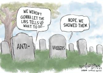 anti-vax graves