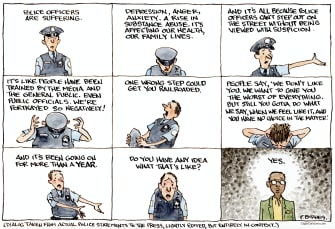 police struggle