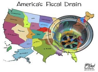 US fiscal drain