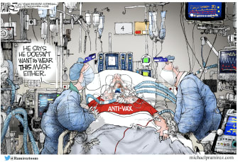 anti vax, anti O2 mask