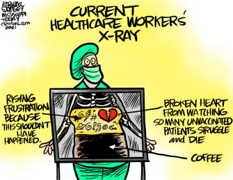 Healthcare workers' x-ray