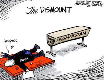 Biden's dismount