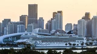 Norwegian cruise ship in Miami