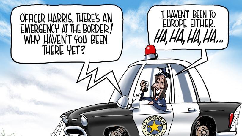 5 brutally funny cartoons about Kamala Harris' immigration stumbles