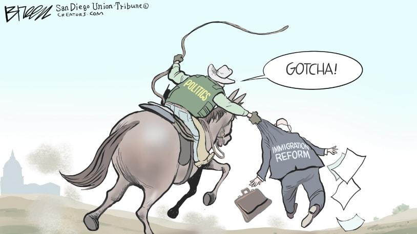 5 cartoons about the Texas border crisis