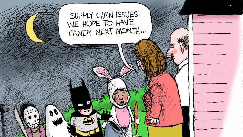 7 cartoons about America's supply chain crisis